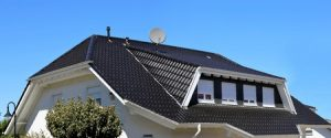 Dakkapel met een schuin dak