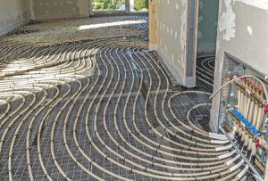 Vloerverwarming installatie